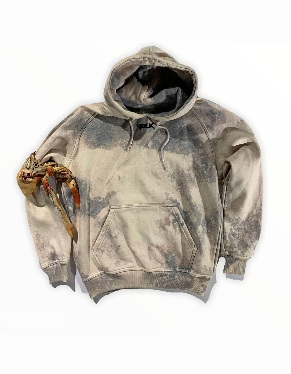 Volk smile font hoodie - bleached grey VOLK Sweater 97,54€