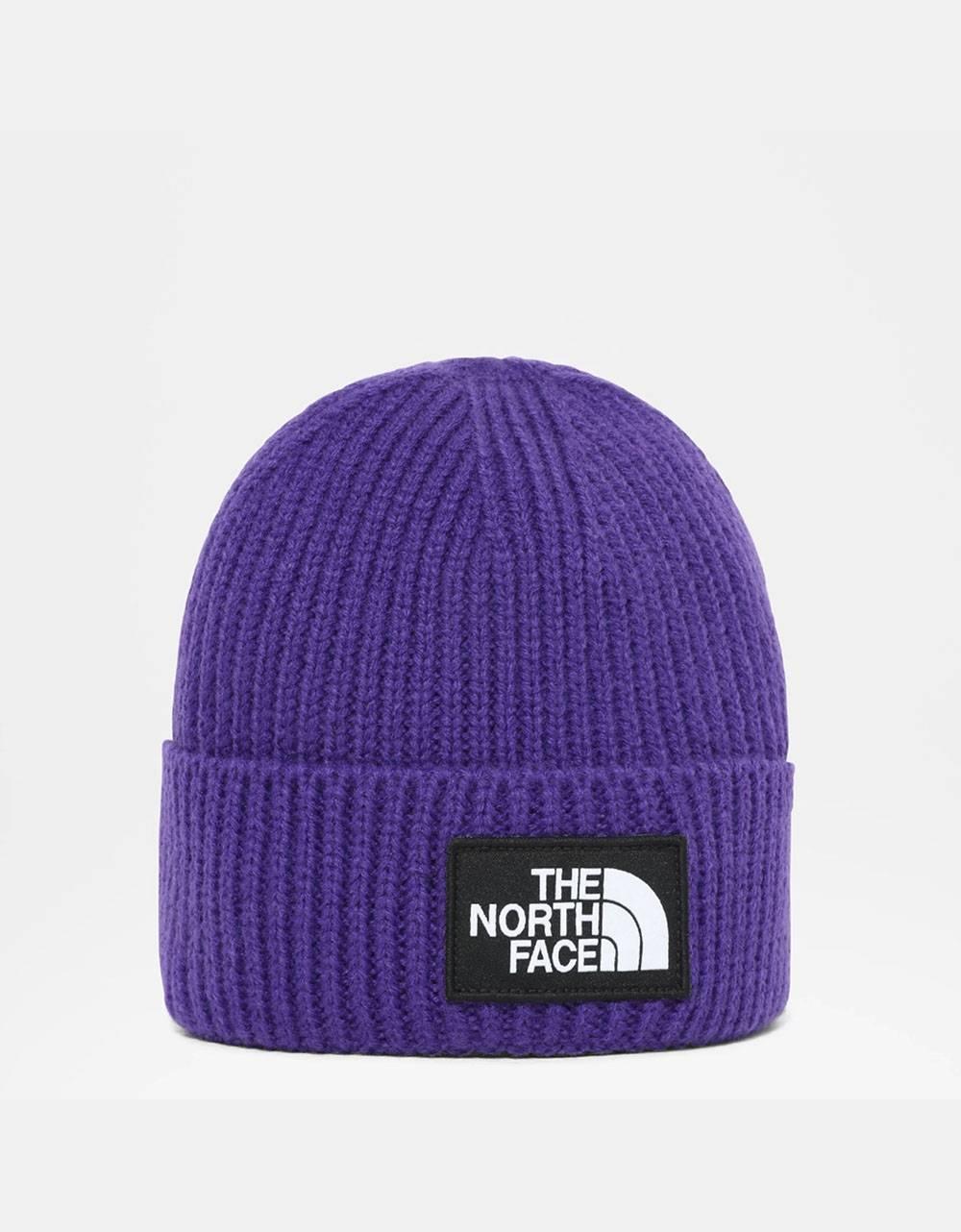 The North Face box logo cuff regular beanie - peak purple THE NORTH FACE Beanie 35,00€