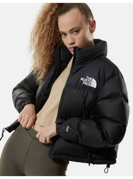 The North Face Woman's Nuptse crop jacket - black THE NORTH FACE Bomber 204,92 €