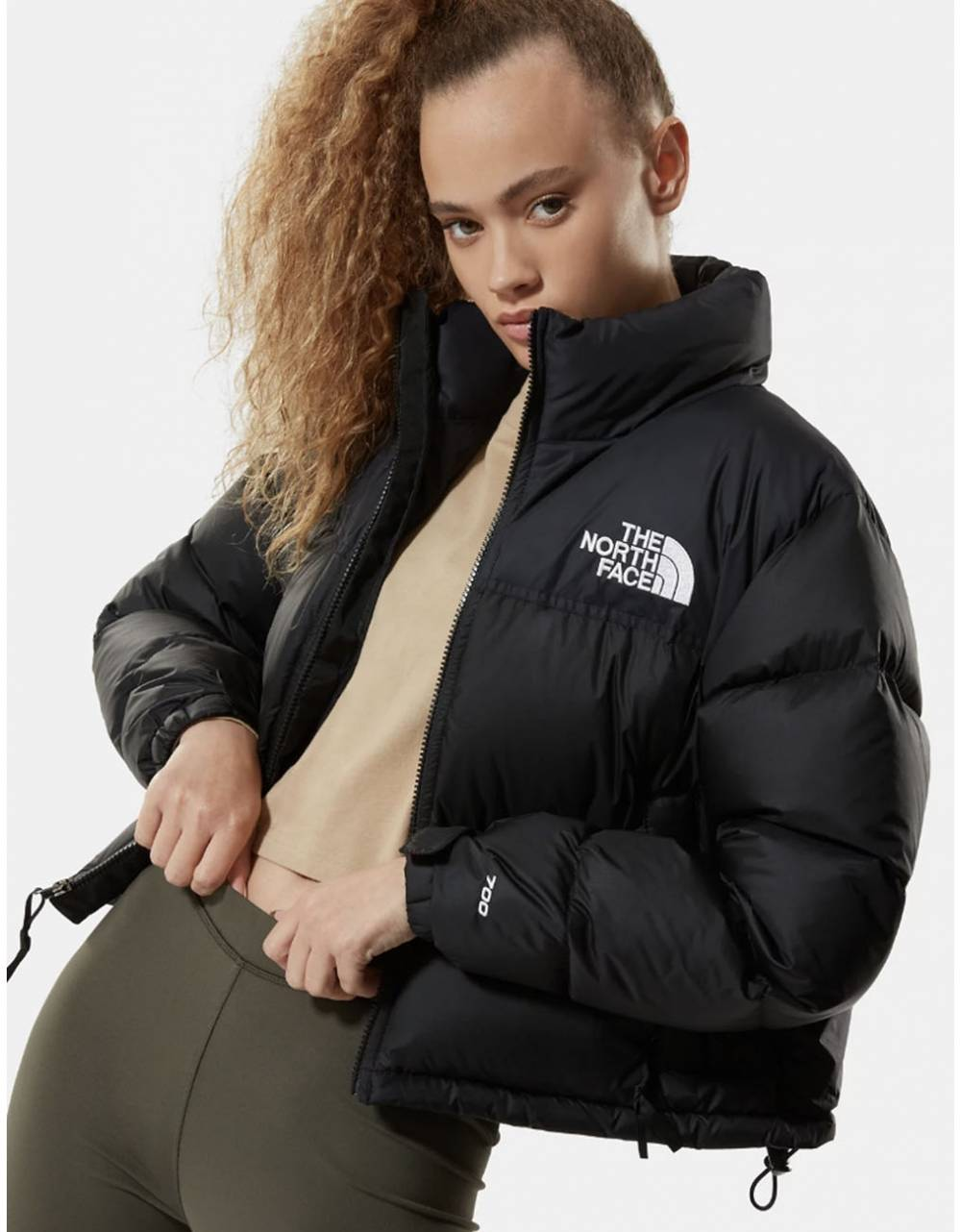 The North Face Woman's Nuptse crop jacket - black THE NORTH FACE Bomber 250,00 €