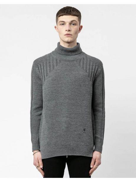 Religion UK Crusade knit jumper - grey Religion Knitwear 98,36€