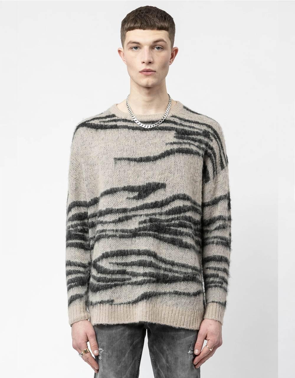 Religion UK Hunter knit jumper - sand/black Religion Knitwear 120,00€