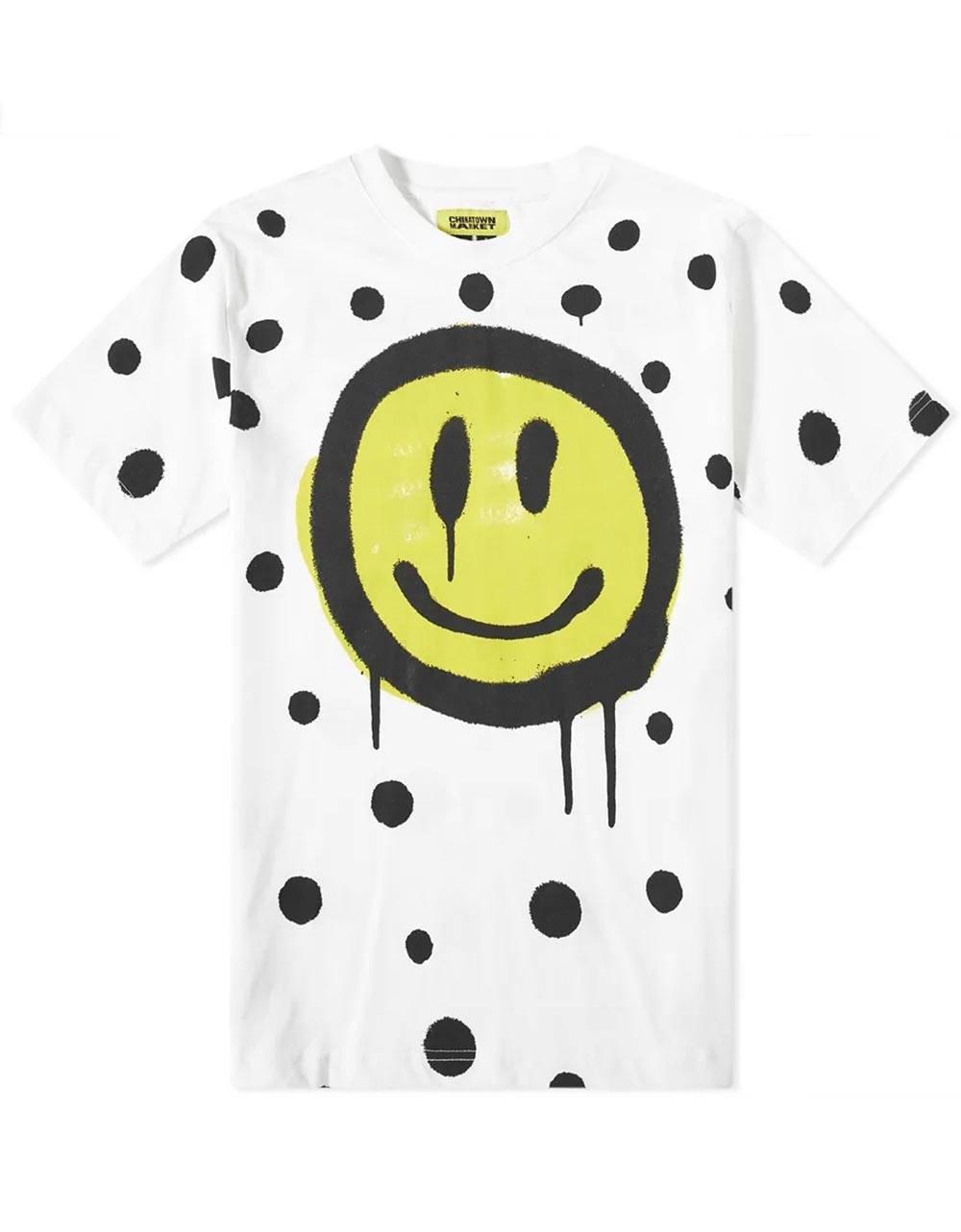 ChinaTown Market Smiley vandal tee - white Chinatown Market T-shirt 65,00€