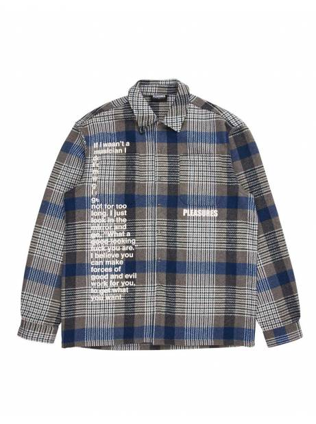 Pleasures Forced plaid overshirt - grey Pleasures Shirt 97,54 €