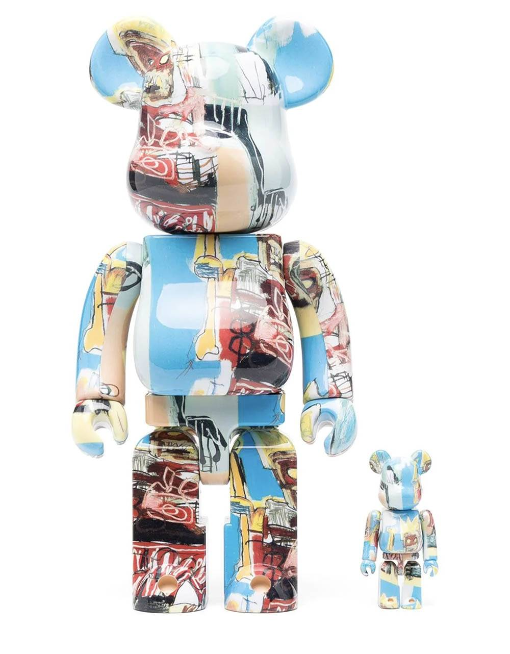 Medicom Toy x Jean Michel Basquiat 6 Bearbrick Set 100% 400% Medicom Toy Toys 204,92€