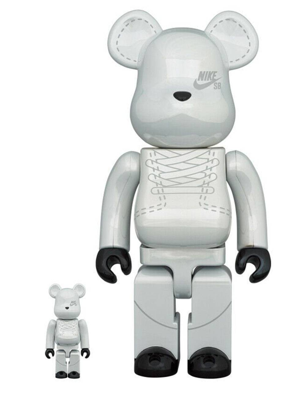Medicom Toy Nike SB Bearbrick Set 100% 400% - Platinum White Medicom Toy Toys 204,92 €
