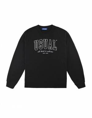 Usual No Thanx Crewneck sweatshirt - black Usual Sweater 109,00 €