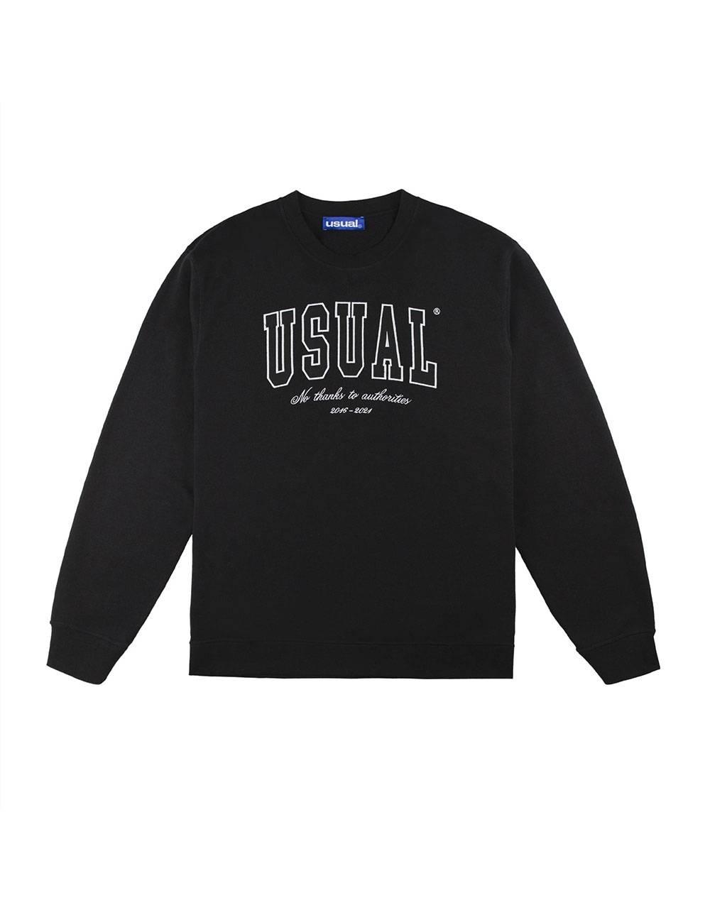 Usual No Thanx Crewneck sweatshirt - black Usual Sweater 115,00€
