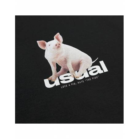 Usual Piggy T-Shirt - black Usual T-shirt 45,00€