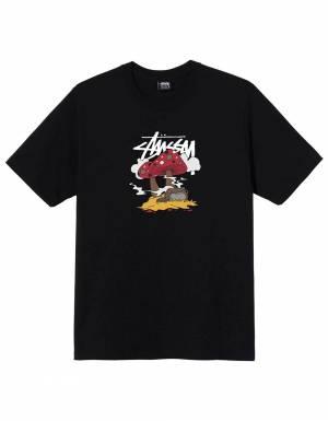 Stussy Somethings cookin' tee - black Stussy T-shirt 55,00€