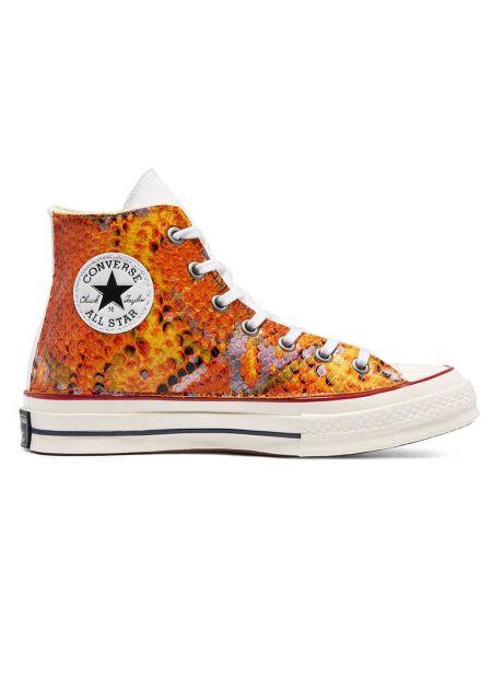 Converse Woman Snake Chuck 70 High Top - orange print python Converse Sneakers 149,00€