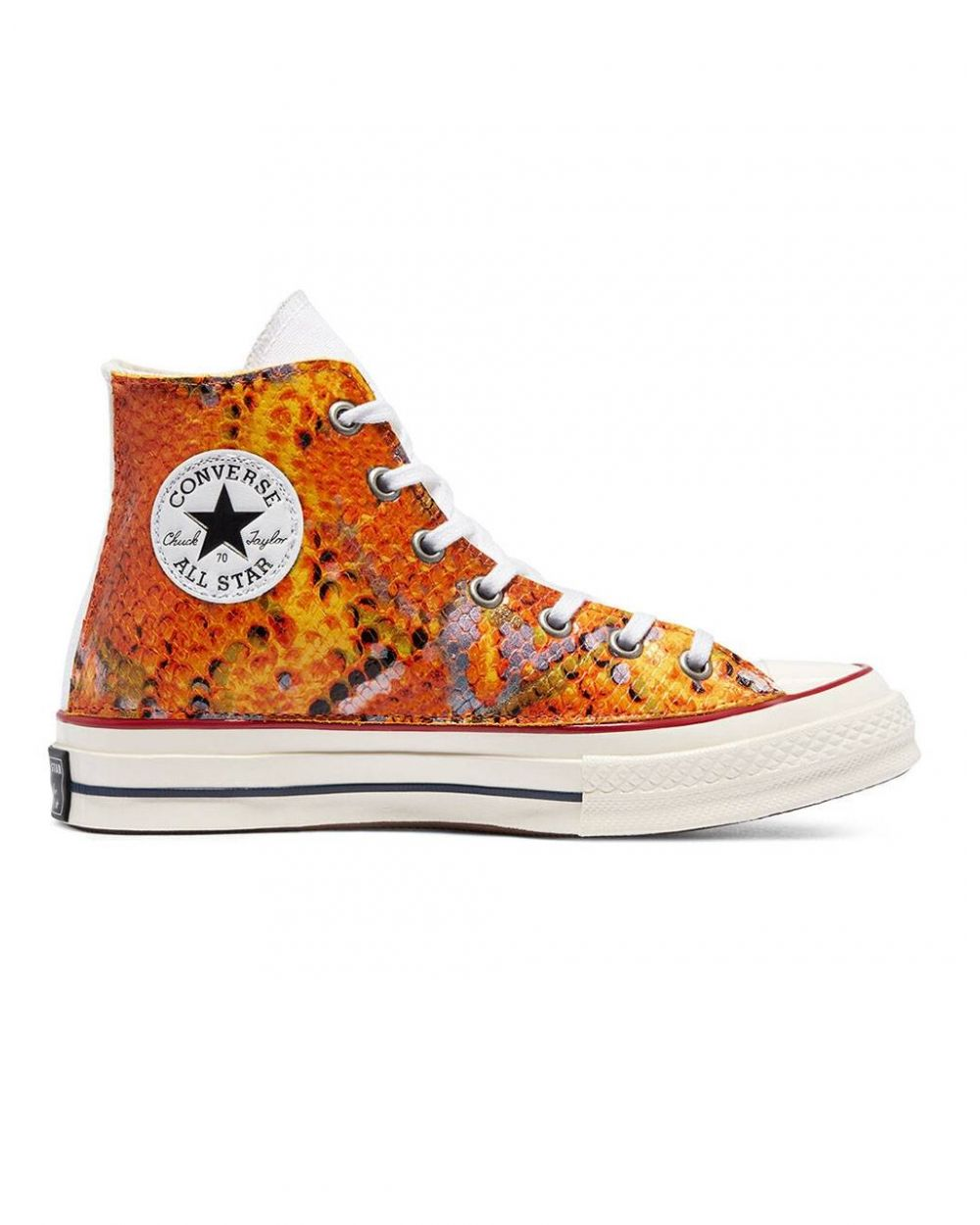 Converse Woman Snake Chuck 70 High Top - orange print python Converse Sneakers 122,13€