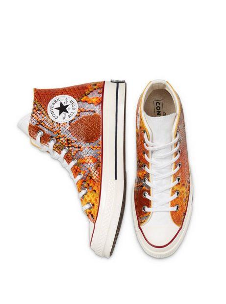 Converse Woman Snake Chuck 70 High Top - orange print python Converse Sneakers 159,00€