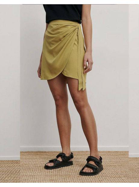 NA-KD overlap side knot mini skirt - olive green NA-KD Skirt 53,00€