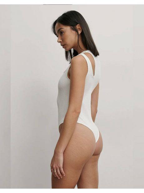 NA-KD cut out ribbed body - white NA-KD Top 35,00€