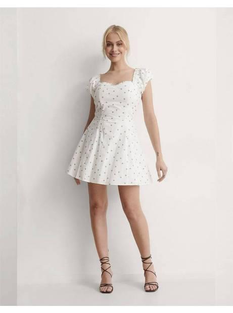 NA-KD dotted mini dress - white/beige NA-KD Dress 60,00€