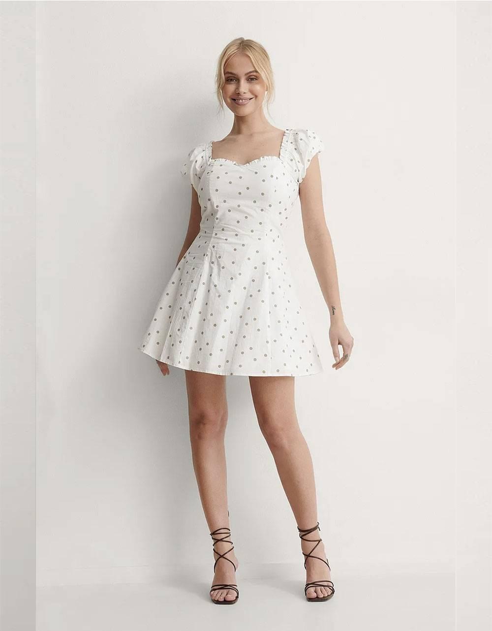 NA-KD dotted mini dress - white/beige NA-KD Dress 49,18€