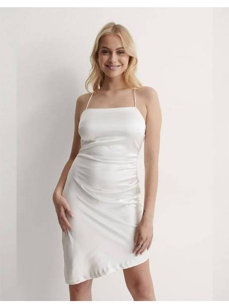 NA-KD draped tie back dress - white NA-KD Dress 60,00€