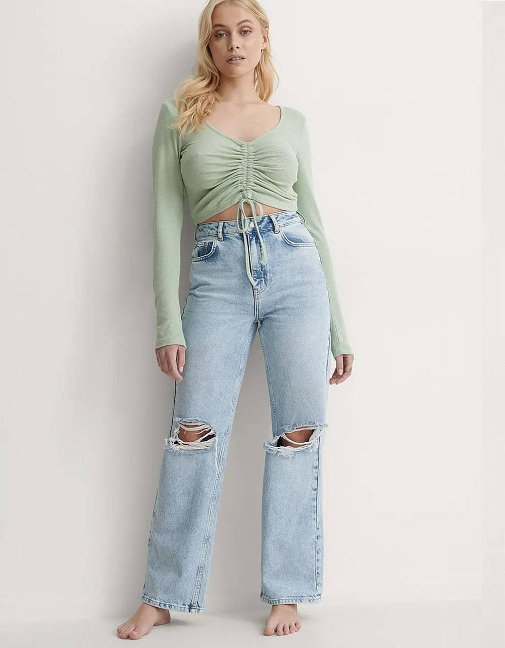NA-KD wide leg denim - light blue NA-KD Jeans 53,28€