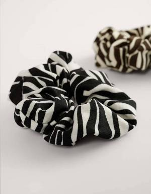 NA-KD 2-pack zebra printed scrunchie - zebra NA-KD ACCESSORIES 15,00€