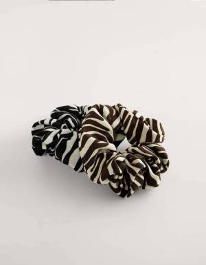 NA-KD 2-pack zebra printed scrunchie - zebra NA-KD ACCESSORIES 12,30€