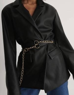 NA-KD layered chain detail belt - black/gold NA-KD ACCESSORIES 28,69€