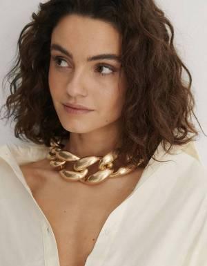 NA-KD oversize matte chain necklace - gold NA-KD Necklace 20,49€