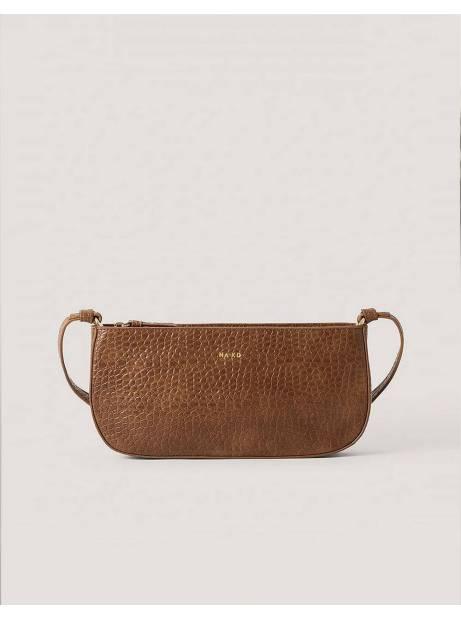 NA-KD reptile baguette bag - brown NA-KD Bags 45,00€