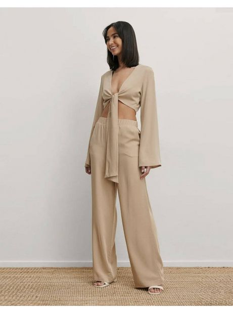 NA-KD high waist loose pants - beige NA-KD Pants 50,00€