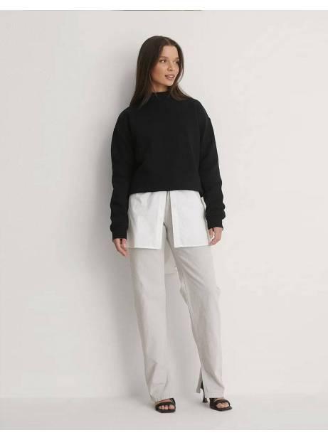 NA-KD side slit denim - light grey NA-KD Jeans 60,00€