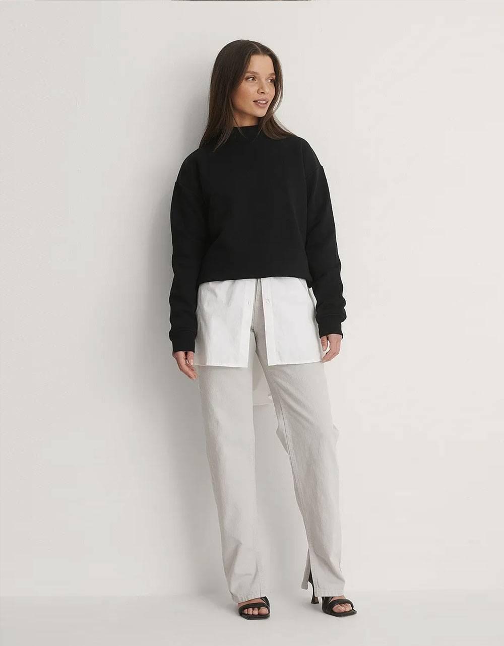 NA-KD side slit denim - light grey NA-KD Jeans 49,18€