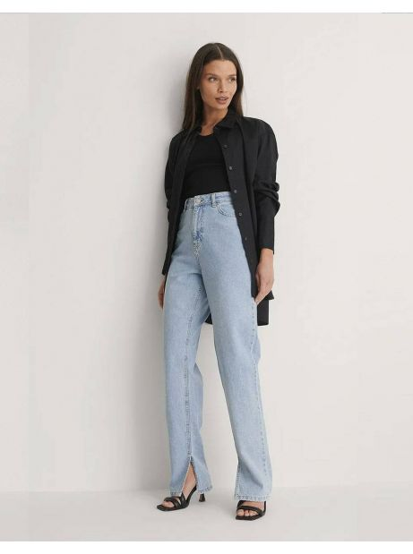 NA-KD side slit denim - vintage blue NA-KD Jeans 65,00€