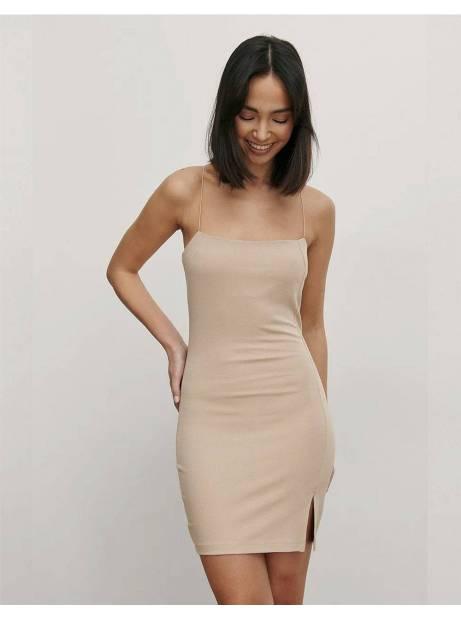 NA-KD tie shoulders mini dress - beige NA-KD Dress 50,00€