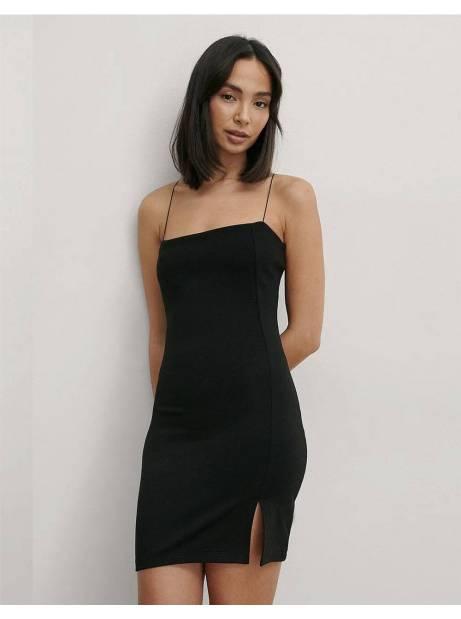 NA-KD tie shoulders mini dress - black NA-KD Dress 50,00€