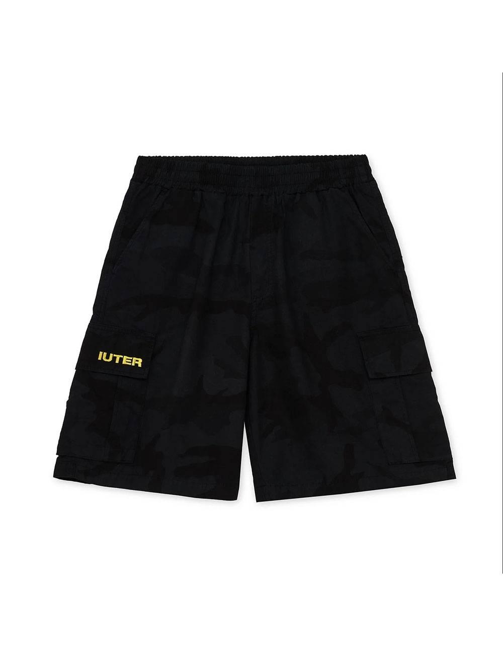 Iuter Cargo camo shorts - black IUTER Shorts 89,34€