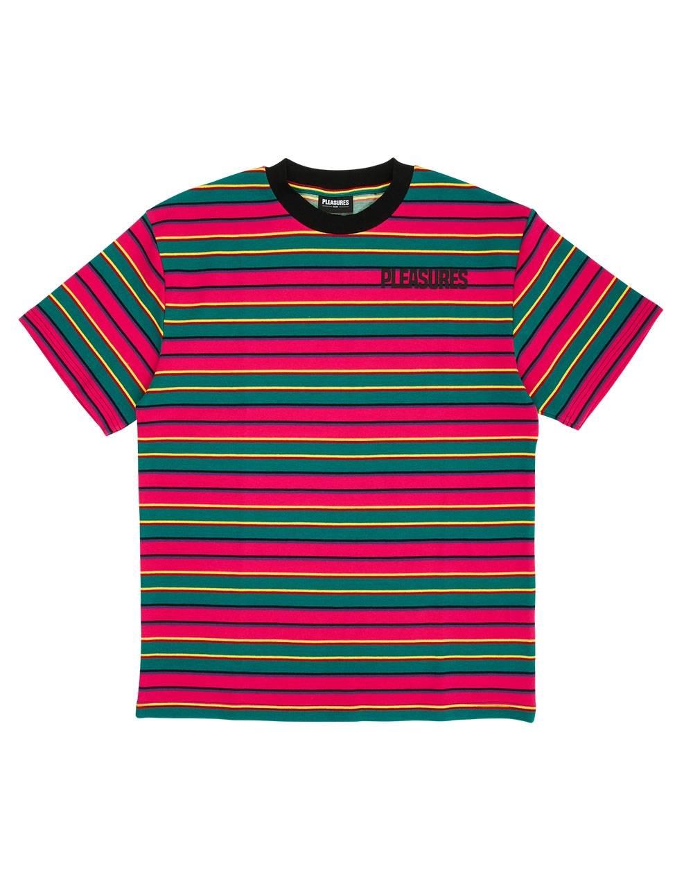 Pleasures Outlier stripe t-shirt - pink Pleasures T-shirt 57,38€
