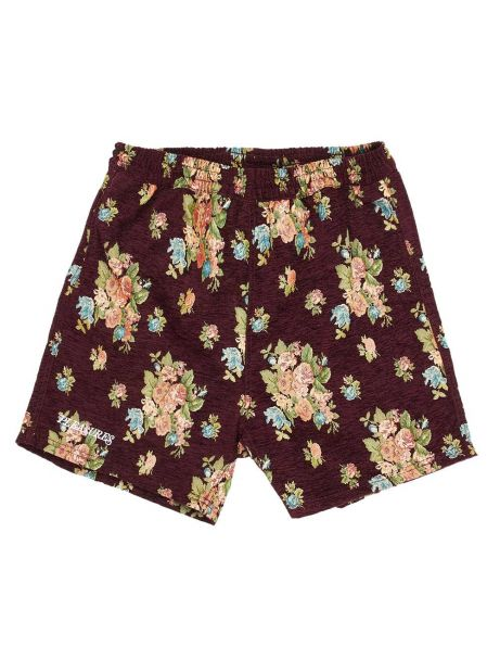 Pleasures Dejavu woven floral shorts - maroon Pleasures Shorts 81,15 €