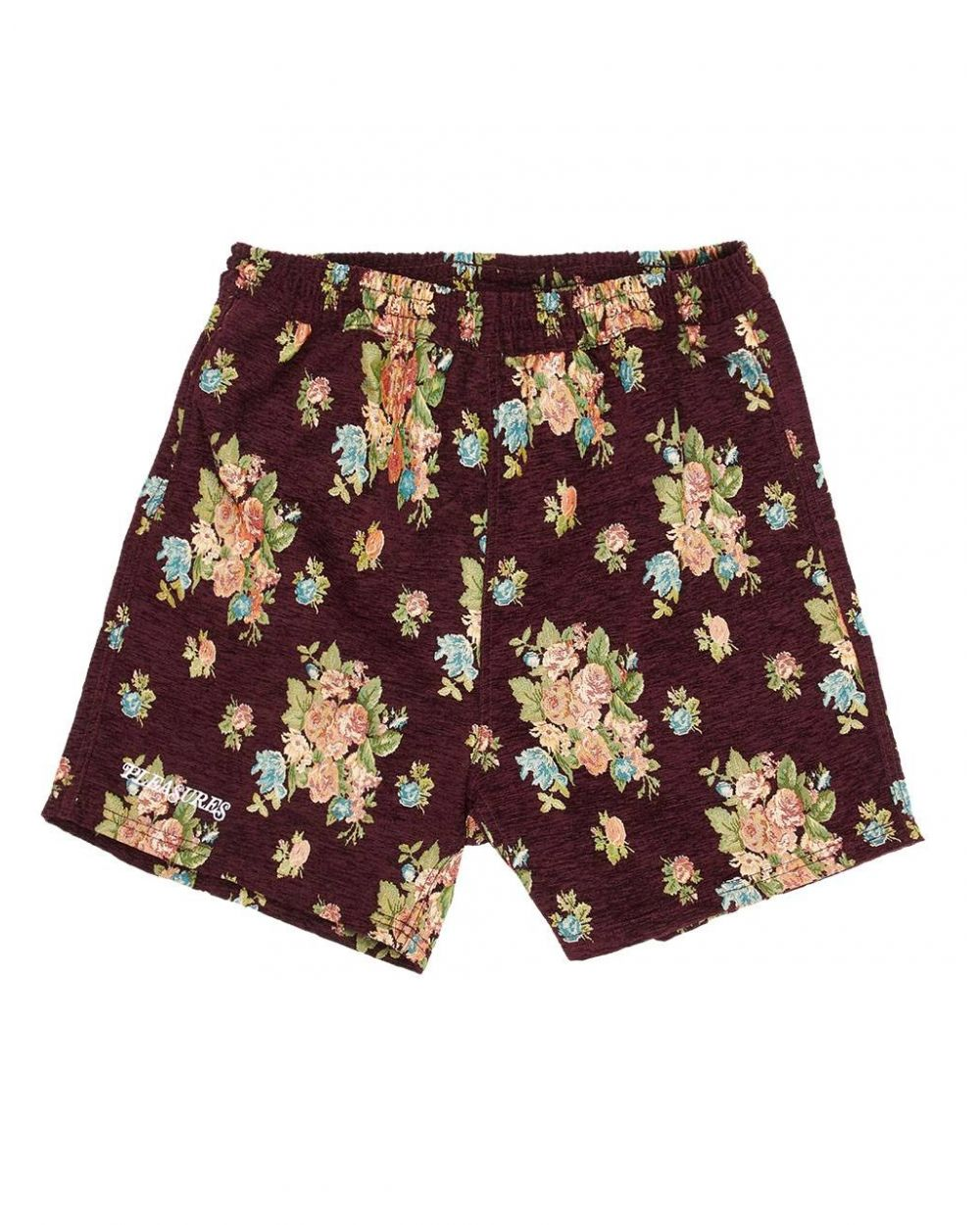 Pleasures Dejavu woven floral shorts - maroon Pleasures Shorts 81,15€