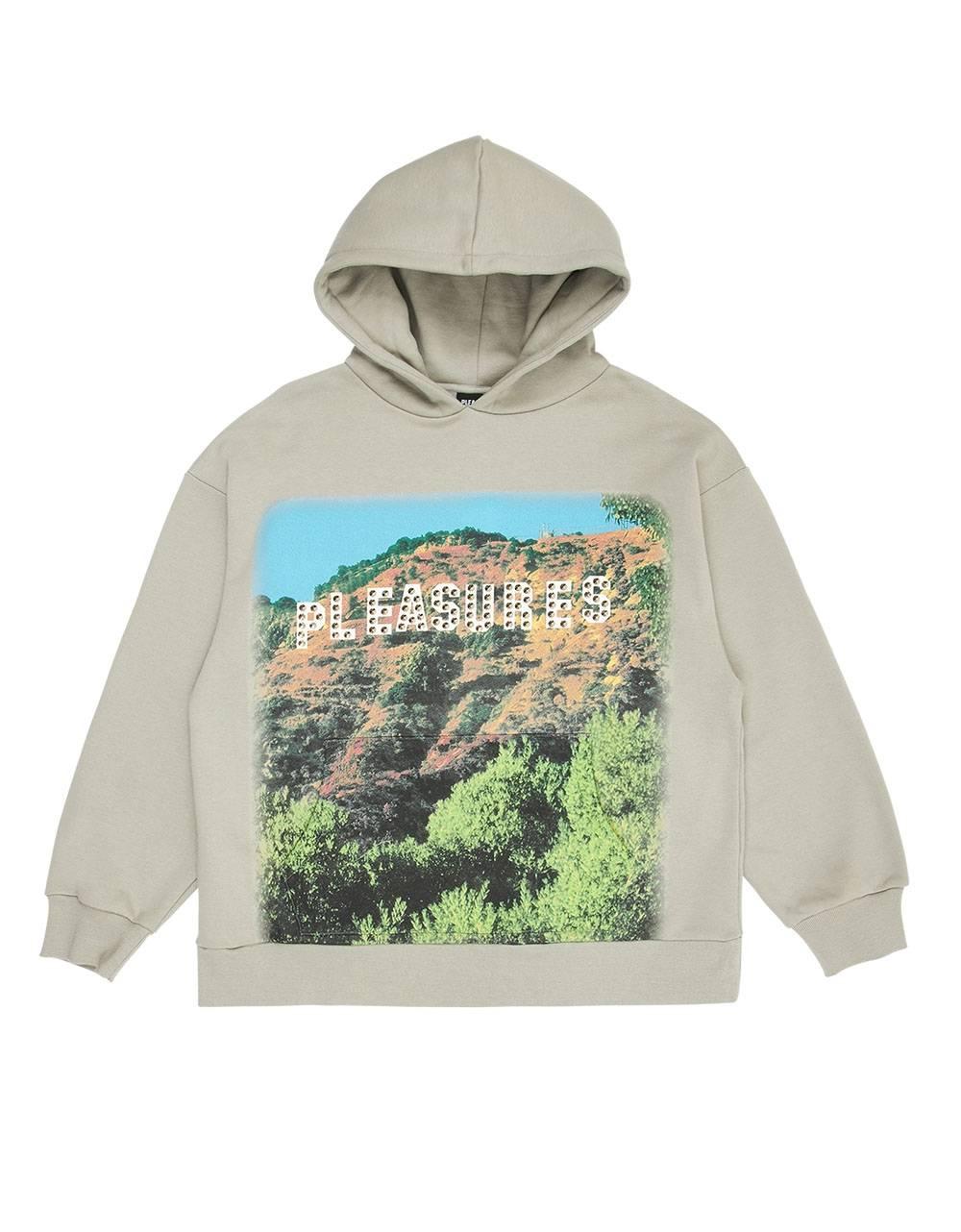 Pleasures Pleasurewood studded hoodie - silver grey Pleasures Sweater 119,67€
