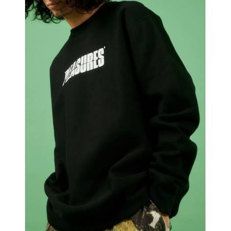 Pleasures Strees jazz premium crewneck sweater - black Pleasures Sweater 97,54€