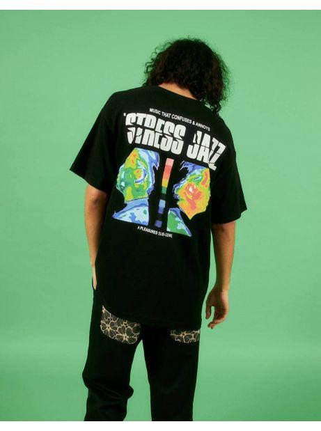 Pleasures Stress Jazz t-shirt - black Pleasures T-shirt 55,00€