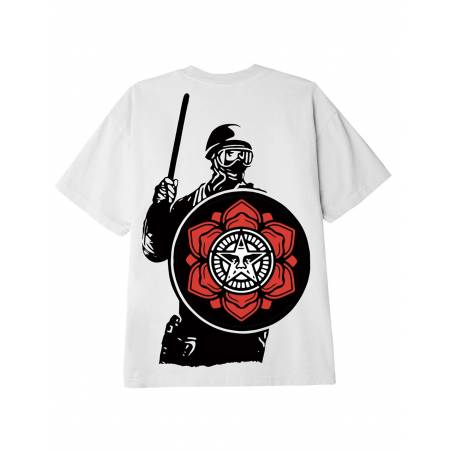 Obey Riot cop peace shield classic t-shirt - white obey T-shirt 37,70€