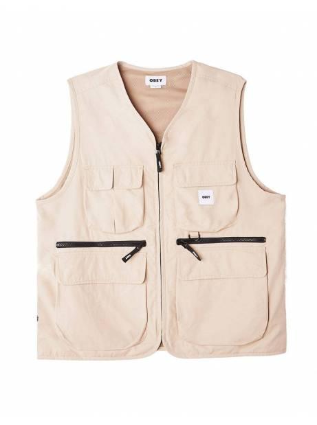 Obey Warfield vest jacket - humus obey Light jacket 127,87€