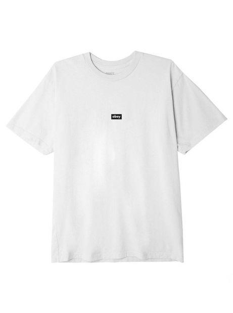 Obey black bar classic t-shirt - white obey T-shirt 46,00€