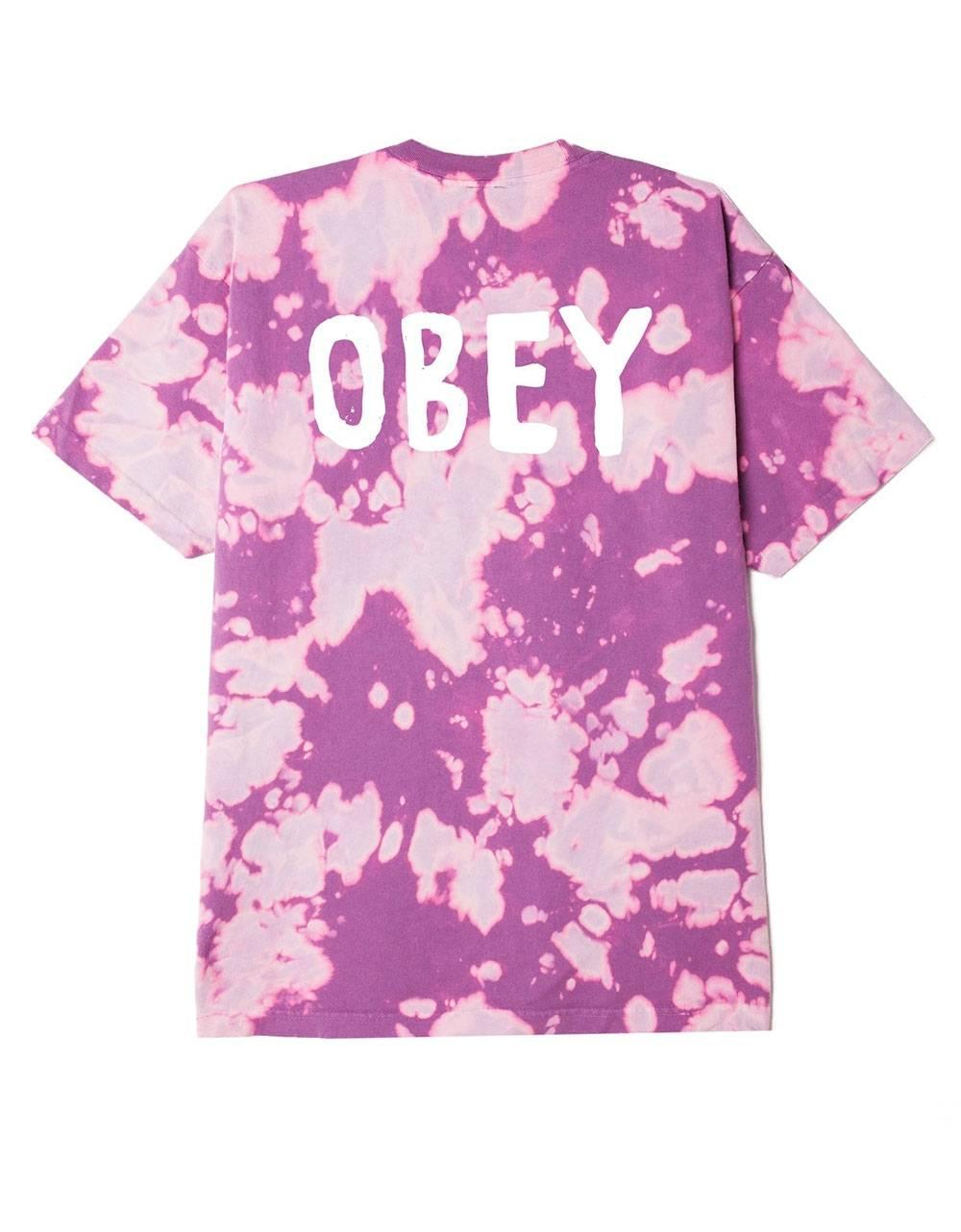 Obey OG heavyweight bleach tie dye t-shirt - purple nitro obey T-shirt 48,36€