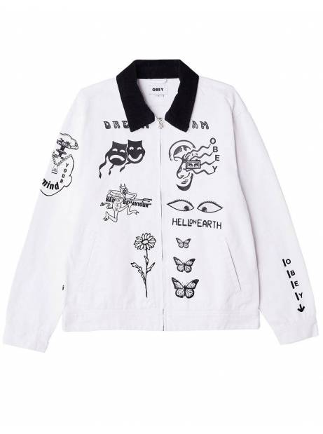 Obey Dream team denim jacket - white obey Light jacket 140,98€