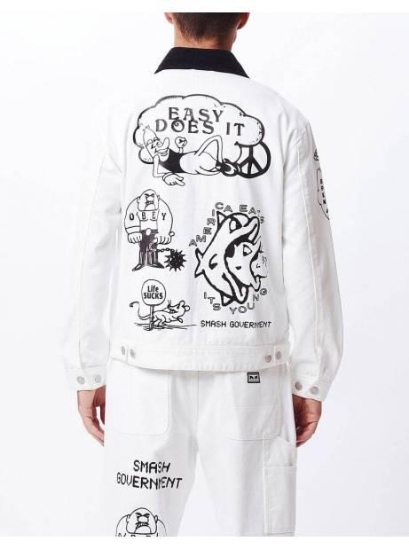 Obey Dream team denim jacket - white obey Light jacket 172,00€