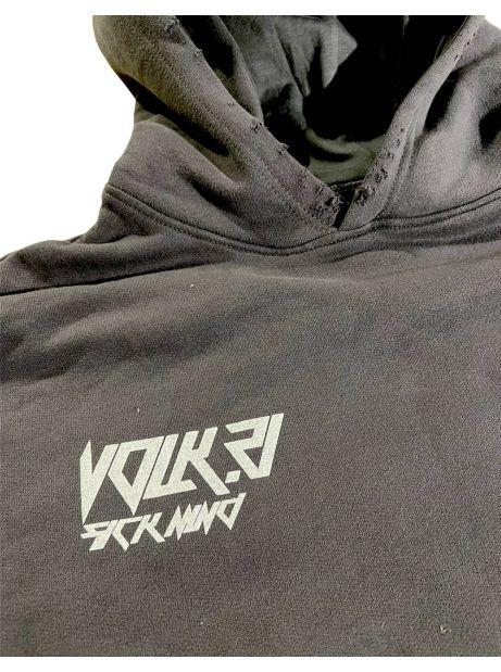 Volk sick mind Box fit hoodie - off black VOLK Sweater 139,00€