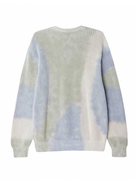 Obey Bold label organic kint sweater - good grey multi obey Knitwear 119,00€