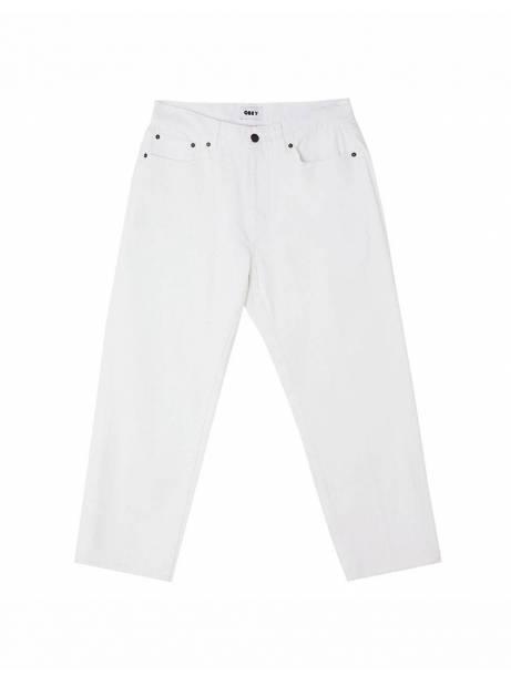 Obey Hardwork denim pants - white obey Pant 100,00€
